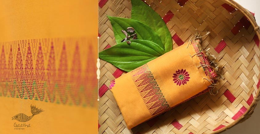 Anagi ☘ Handwoven Assamese Cotton-Silk Dupatta ☘ 12
