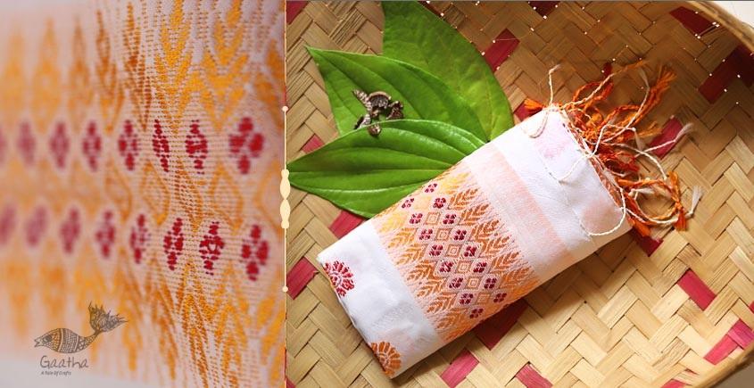 Anagi ☘ Handwoven Assamese Cotton Silk Stole ☘ 11