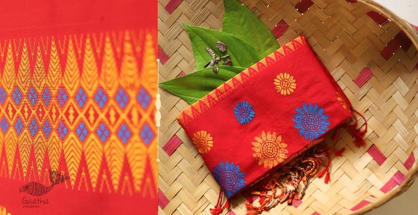 Anagi ☘ Handwoven Assamese Cotton Silk Stole ☘ 14