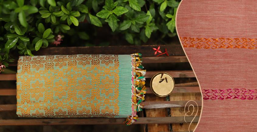 Saalmi ❋ Assamese Silk-Cotton Saree ❋ 11