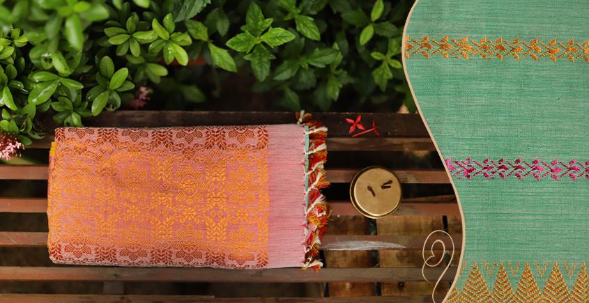 Saalmi ❋ Assamese Silk-Cotton Saree ❋ 12