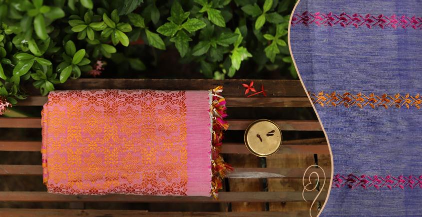 Saalmi ❋ Assamese Silk-Cotton Saree ❋ 2