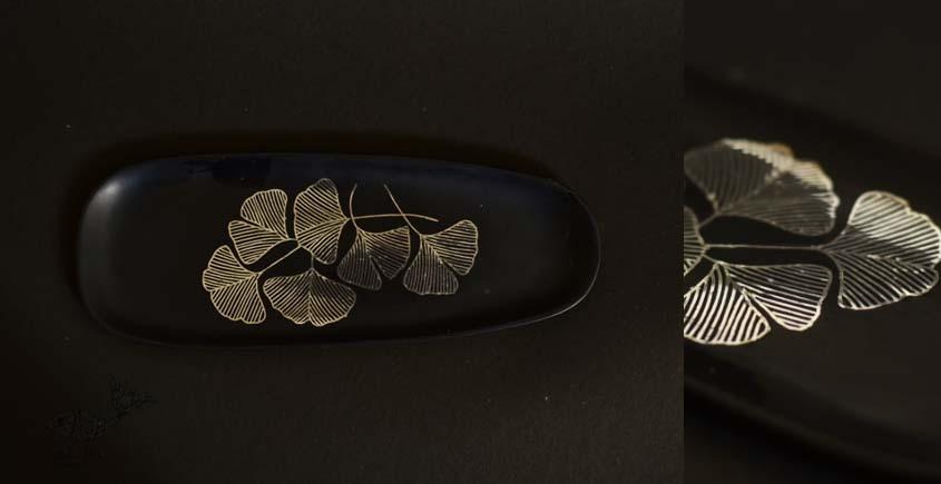Bidri ✡ Ginkgo Leaves Platter ✡ 19