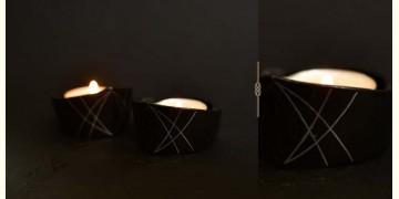 Bidri ✡ Small T light Holder (Set of Two) ✡ 26