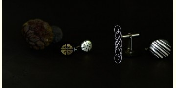 Bidri ♣ Inlay Cufflinks - Set of Two (Four Options) ♣ 41A