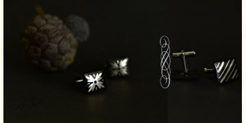 Bidri ♣ Inlay Cufflinks - Set of Two (Three Options) ♣ 41