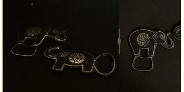 Bidri ✡ Openers elephant assorted (Set Of Two) ✡ 35