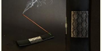 Bidri ✡ Agarbatti Stand peacock design ✡ 16
