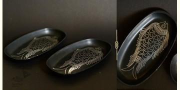 Bidri ✡ Big Platter Fish (Set Of Two) ✡ 14