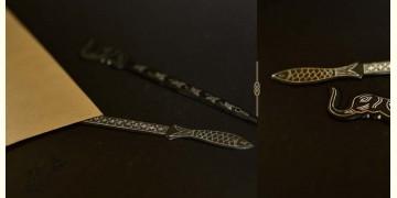 Bidri ✡ Paper cutter small assorted (Set Of Two) ✡ 37