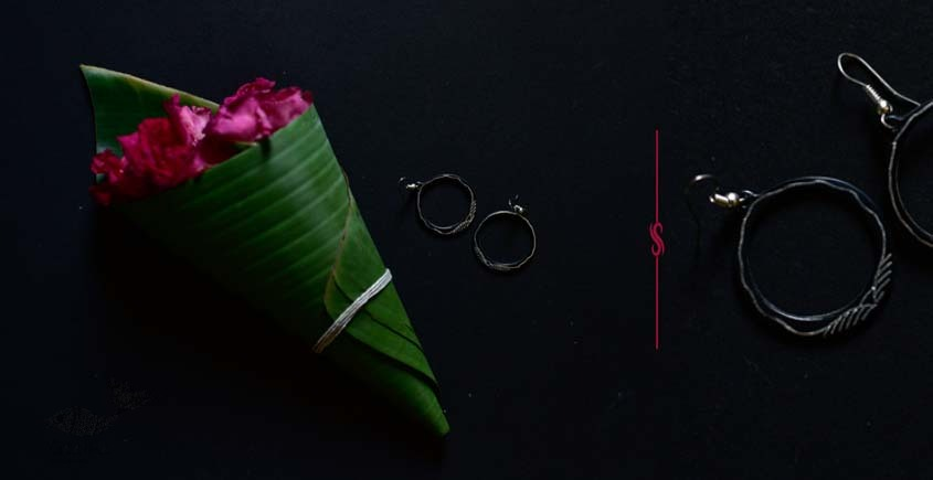 exclusive new collection of Silver Inlaid Earring 42A