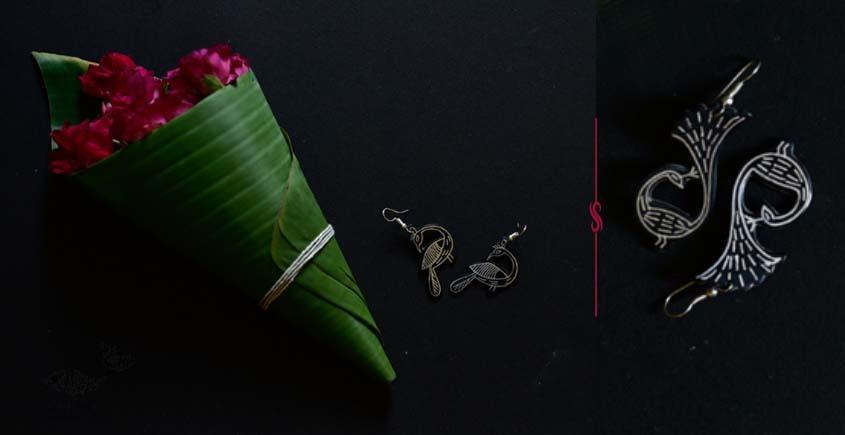 exclusive new collection of Silver Inlaid Earring 42D