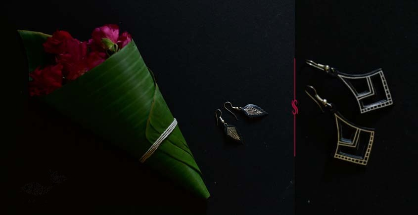 exclusive new collection of Silver Inlaid Earring 42E