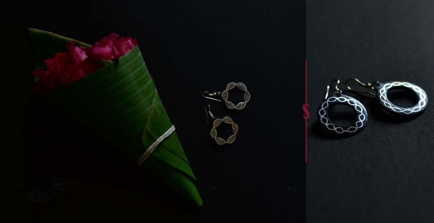 exclusive new collection of Silver Inlaid Earring 42F