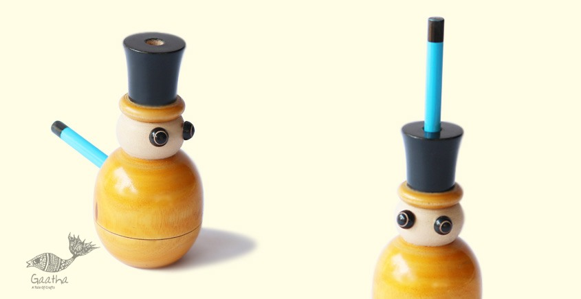 Chhapak ~ Snow-Man Sharpener and Pencil Stand ( Single piece )