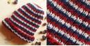 Red-Ecru Multi Stripes Woolen Cap