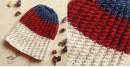 indigo color Hand Knitted Woolen Cap