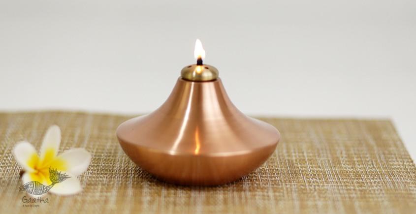 ताम्र ✤ 6 ✤ SANCHI OIL LAMP COPPER