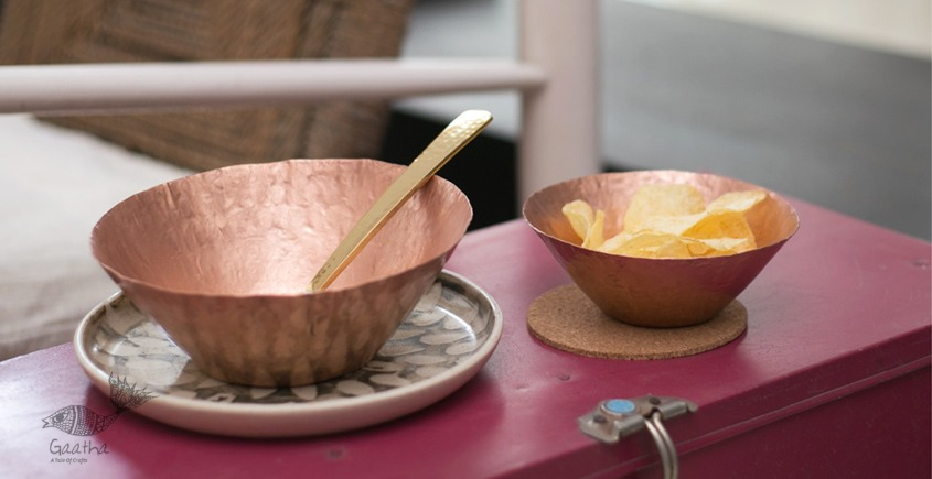 ताम्र ✤ 21 ✤ Conical Nut Bowl Large