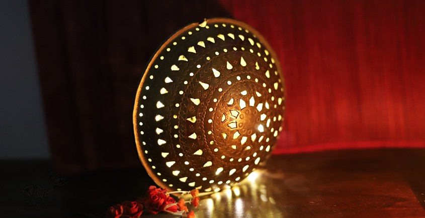 Ahar ✽ Brass Hanging Tea Light Holder