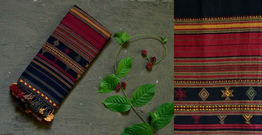 Handwoven cotton bhujodi weaving stoles from kutch