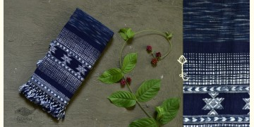 Beyond The Basics ✜ Handwoven Bhujodi Kala Cotton Stole ✜ 12