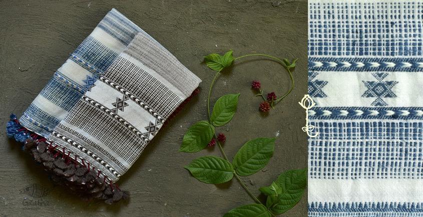 Handwoven Cotton Silk  bhujodi weaving stoles from kutch