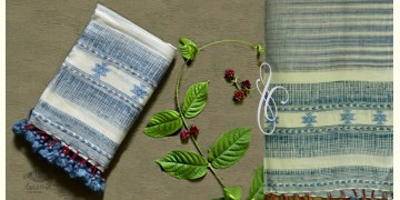 Beyond The Basics ✜ Handwoven Bhujodi Cotton Linen Stole (Four Options) ✜ 27D