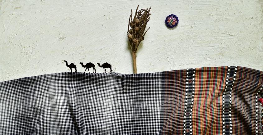 shop online Cotton bhujodi handwoven cotton dupatta 1