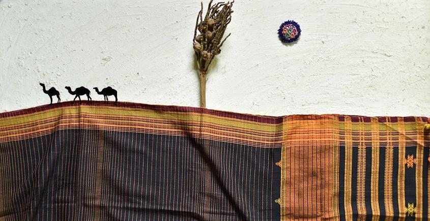 shop online Cotton bhujodi handwoven cotton dupatta 3