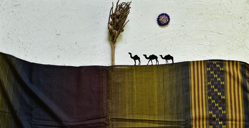 shop online Cotton bhujodi handwoven cotton dupatta 4