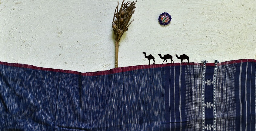 shop online Cotton bhujodi handwoven cotton dupatta 5
