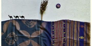 Breezy Mangroves ❧ Handwoven Bhujodi Cotton Tussar Silk Clamp Dyed Dupatta ☙ 13