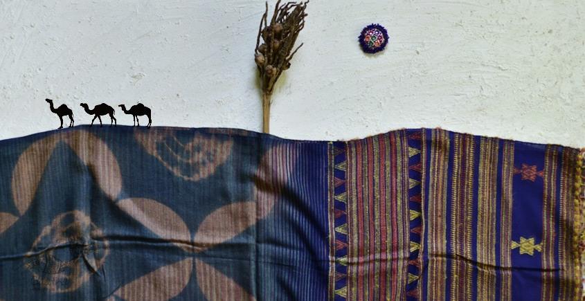 shop online Bhujodi Cotton Tussar Silk Dupatta 13