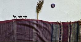 Breezy Mangroves ❧ Handwoven Bhujodi Cotton Tussar Silk Dupatta ☙ 14