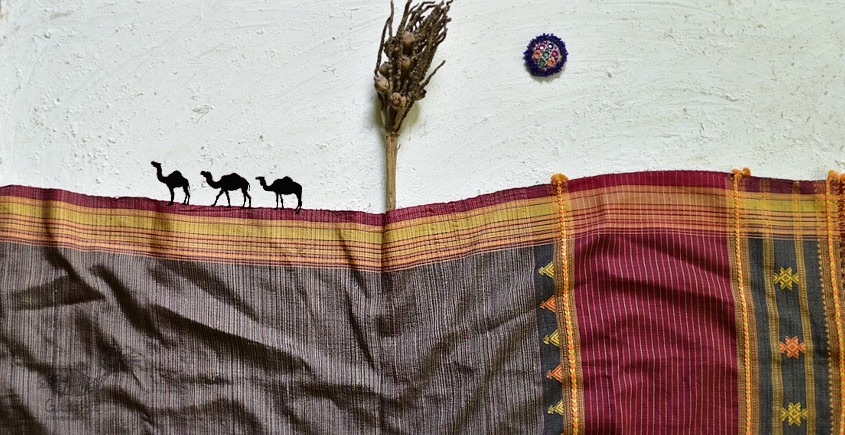 shop online Bhujodi Cotton Tussar Silk Dupatta 15