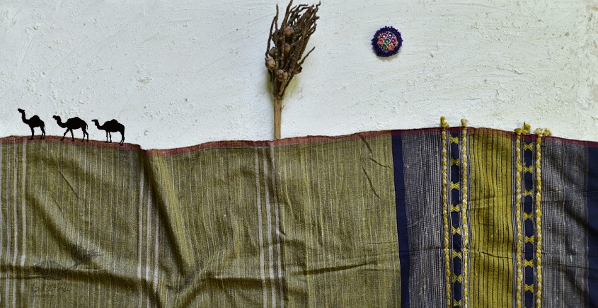 shop online Bhujodi Cotton Tussar Silk Dupatta 14ab