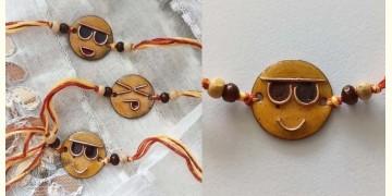 Ekibeki ⊛ Copper Enameled Rakhi ⊛ Smiley ⊛ 19
