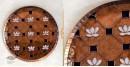 shop Copper Enamel Wall Plate Green Lotus Jali  8