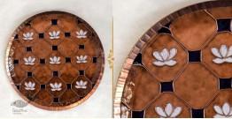 "Ekibeki ❋ Copper Enamel Wall Plate Brown Lotus Jali (Options - S(8""), M(10""), L(12"") ) ❋ 8"