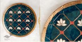 "Ekibeki ❋ Copper Enamel Wall Plate Green Lotus Jali (Options - S(8""), M(10""), L(12"") ) ❋ 7"