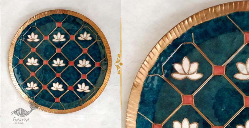 shop wall plate with copper enamel