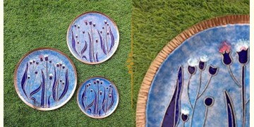 "Ekibeki ❋ Copper Enamel Wall Plate Pastels -Emilia (Options - S(8""), M(10""), L(12"") ) ❋ 17"