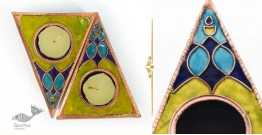 Ekibeki ❋ Green Rangoli Copper Tealight Holder (Set of 2) ❋ 2
