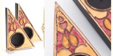 Ekibeki ❋ Yellow Rangoli Copper Tealight Holder (Set of 2) ❋ 1