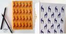 shop online Recycled Handmade Paper Gond Motif Hardbound Diary - Blue Deer & Orange Deer ( Set of 2 )
