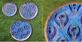 """Ekibeki ❋ Copper Enamel Wall Plate Pastel - Wildflower (Options - S(8""""), M(10""""), L(12"""") ) ❋ 19"""