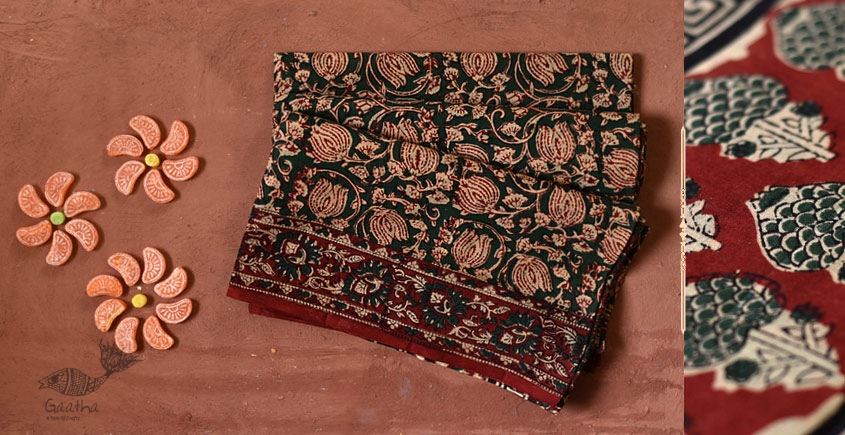 Natural color cotton block printed products