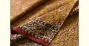 Gujarat block printed saree hina color