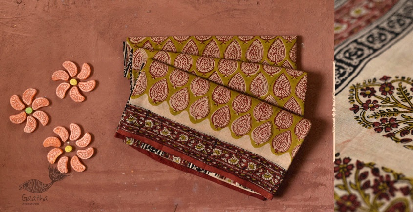 Eshana | Gaamthi Print . Natural Color . Saree | 2